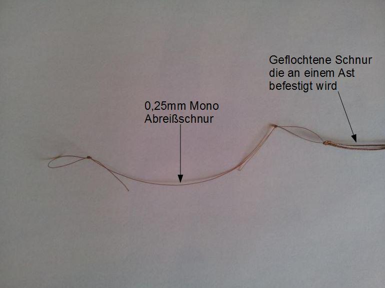 0,25mm Monofile Abreißschnur