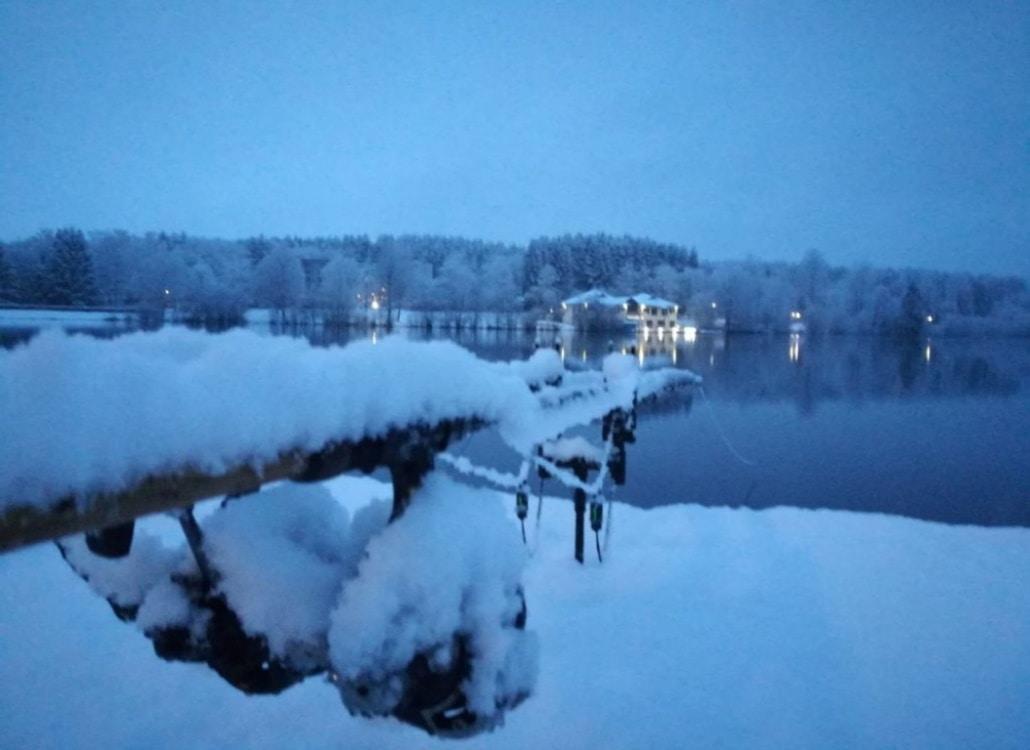 Wallerangeln im Winter